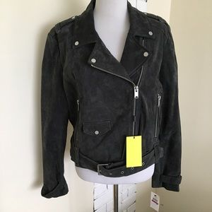 NWT Marc New York Suede Leather Moto Jacket XXL